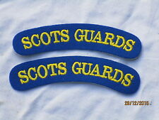 Schultertitel: SCOTS GUARDS, Palastwache,Garde,Paar, blau/gelb