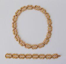 Vintage SWAROSKI Crystal Necklace & Matching Bracelet~~Clear Crystals, Gold Tone