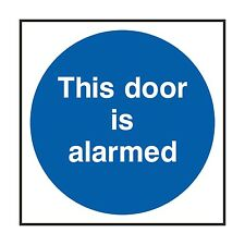 1x THIS DOOR IS ALARMED Warning Safety Sticker for Home Work Door Store Shop Car