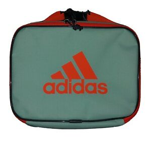 Adidas Unisex Foundation Insulated Lunch Bag, Mint Green / Orange Coral