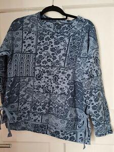 George ladies blue patterned sweatshirt size 10