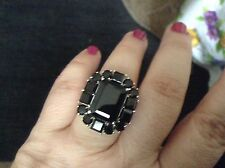 Black spinel Platinum  overlay Sterling silvers