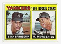 Bobby Murcer Stan Bahnsen 1967 Topps Rookie Stars #93 RC New York Yankees EX