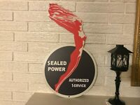 Sealed Power Service Reproduction Laser Cut Out  Piston Rings Steel Sign