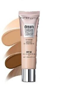 MAYBELLINE Dream Urban Cover Full Coverage Foundation 30ml SPF50 - Choose shade