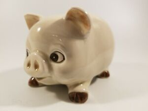 Vintage Ceramic Small Piggy Bank with Plastic Stopper.