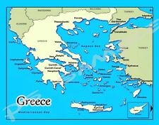 GREECE - map - Travel Souvenir Flexible Fridge MAGNET