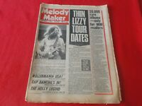 Vintage Rock N Roll Pop Newspaper Magazine Melody Maker Sept. 1976 Thin LizzyP24