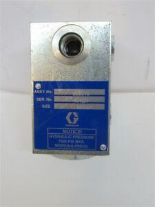 "Graco 563513, In Line Oil Filter High Pressure, 9/16""-18 SAE Ports, 7500 PSI Max"