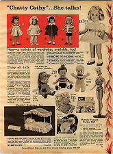 1961 ADVERT Chatty Cathy Barbie Doll Casper Belle Matty Tiny Tears Toodles