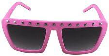 Quay Eyeware Australia 1414 Matte Pink Silver Studs 100 UV Sunglasses