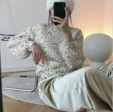 Women Korean Lazy Pullover Sweater Colored Dot Motley Loose Knitted Tops KK00