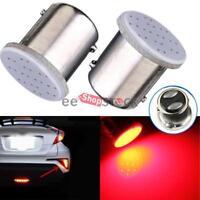 Ampoule BAY15D-1157 2 Pcs lampe arrière feux stop 12 Led COB rouge ESS TECH®