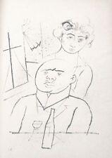 Lithography original - George Grosz - Ecce Homo - Melancholy - 1923