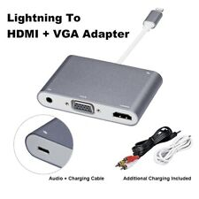 Lightning to HDMI VGA Digital AV Audio Adapter Cable For Apple iPhone iPad iPod