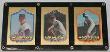 Nolan Ryan Baseball Cards Set of 3 BLEACHERS 23 kt
