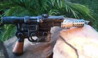 Han Solo Blaster Prop Replica DL-44 w/Sound Custom Painted Star Wars Cosplay