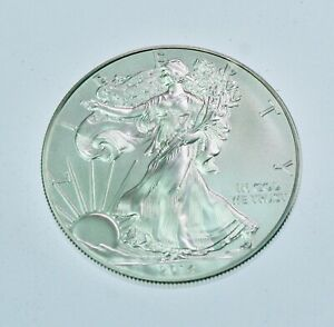 2014 1 oz American Silver Eagle $1 Coin  BU from mint roll  #776