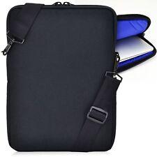 "Turtleback Padded Sleeve Laptop Slip Case Strap Blue Interior for 13"" Macbook"