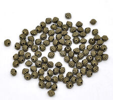 200 Bronze Tone Bicone Spacer Beads 5x4mm