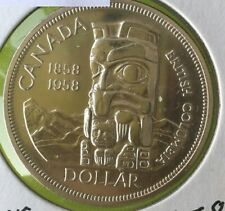 1958 Canadian  Silver Dollar (circulated & cleaned)