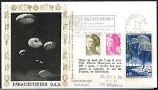 1984-Fdc-France Libre - Parachutistes -S.A.S  - Vannes - Yt./1603/2180/2240