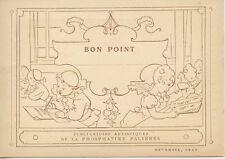 CHROMO PUBLICITAIRE LA MORALE DE PIERROT PAR GEOFFROY PL. 8 / BON POINT