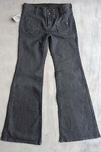 Replay WV 500A mid rise Jeans Hose Bootcut Flare Schlag grau Gr M 38 W29/L32 Neu