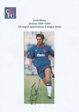 SCOTT MINTO CHELSEA 1994-1997 ORIGINAL HAND SIGNED MAGAZINE CUTTING