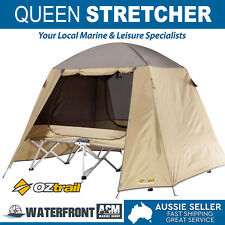 Oztrail Folding Queen Stretcher Portable Camping Camp Light Weight Carry Bag Bed