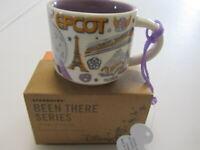 Disney Starbucks EPCOT 2oz Mini Mug Ornament Been There Park + FREE GIFT coffee