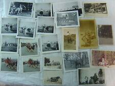 Lot of 24 Vintage Photos Men & Women Horse Riding & Ponies Rides 772224