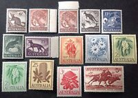 Australia 1959-64 Full Set Of 14 stamps to 5 shillings mint mnh