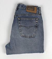 MAVI Mens Jeans Sz 32'' Button Fly Faded Straight Leg Rigid Denim - Hemmed