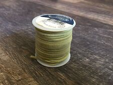 Real Leather Craft Lace 3/32 Inch 50 Foot Spool Kiwi Green Taupe New Made Usa