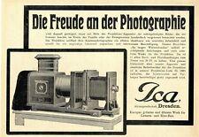 ICA A.G. DRESDEN fotografia dell'Europa grösstes fabbrica per camera e cinema-costruzione 1912