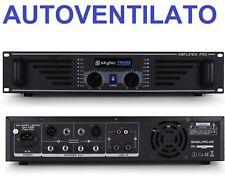 AMPLIFICATORE FINALE DI POTENZA DJ LIVE PROFESSIONALE 240W VENTILATO 2 CANALI
