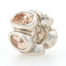 Pandora Champagne Oval Lights Charm - Sterling Bead Authentic 790311CCZ Retired