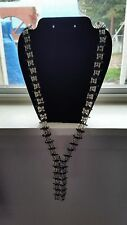vintage neclace made out of safty pins. Black & white, hand made, jewlery.