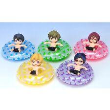 6pcs Free! Iwatobi Swim Club Haruka Makoto Rin Nagisa Rei 4.5cm Figure NO Box