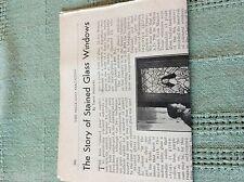 m89b ephemera 1950s article story of stained glass windows