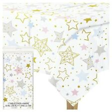 TWINKLE LITTLE STAR TABLE COVER, Baby Shower, Party, Unisex, Tableware Supplies
