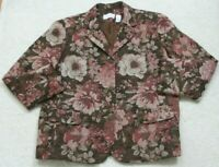 Alfred Dunner Floral Dress Jacket Coat Woman's Button Front Size 18 Eighteen