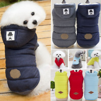 HOT Puppy Pet Dog Cat Clothes Hoodie Winter Warm Sweater Coat Costume Apparel