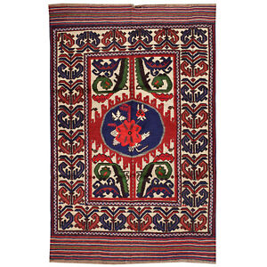 2507 # Hand Woven Afghan Tribal Barjasta Pure Wool Area Kilim (190 x 1280)cm Rug