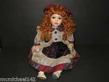 Limited Edition Sitting Porcelain Doll with neck Stamped & Marked C.F.P 848/1200