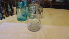 MASON JAR BALL IDEAL  QUART WITH BAIL AND GLASS LID