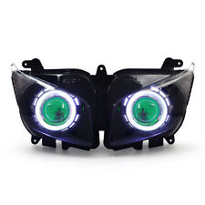 KT LED Angel Eye Projector Headlight Assembly for Yamaha FZ1 FZ1S 2006-2015Green