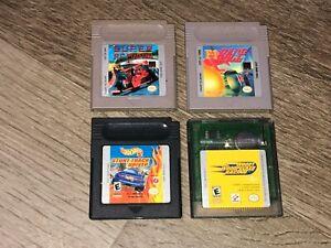 4 Game Lot Nintendo Game Boy Super R.C. Pro-Am F-1 Race Hot Wheels Woody