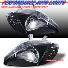 Set of Pair OE Style Black Housing Headlights for 1999-2000 Honda Civic